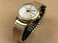 Vulcain Cricket 1950s Alarm Watch 10K Gold Filled Wrist Watch Beautiful Dial