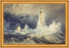 Bell Rock Lighthouse William Turner Leuchtturm Meer Sturm Wellen Boot B A3 03545