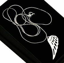 Plata esterlina 925 Collar De Ala De Ángel