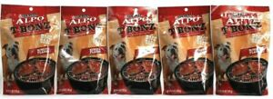 5 Purina Alpo T Bonz Steak Shaped Dog Treat Ribeye Flavor Real Beef 4.5 oz