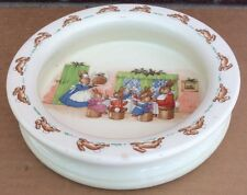 Beatrix Potter Bunnykins Christmas Party Porridge Bowl Royal Doulton rare