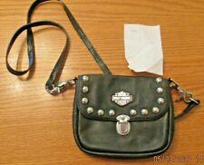 Harley-Davidson Genuine Leather Studded Womens Clutch Purse Handbag Bar Shield