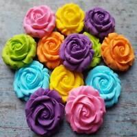 18 EDIBLE SUGAR PASTE FONDANT ROSES FLOWERS CAKE CUPCAKE TOPPERS DECORATIONS