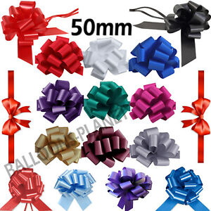 5,10,20 Pull Bow Gift Wrapping/Party/Wedding Decor Wrap Large Ribbon Plain 50 mm