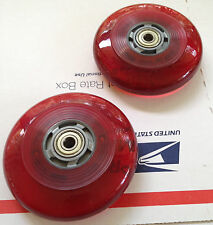"""4""""  FLASHING WHEELCHAIR CASTER WHEELS, LIGHT UP  RED (GET 2)"""