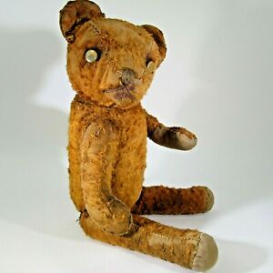 """Vintage fully jointed cinnamon red mohair TEDDY BEAR 15"""" antique American Ideal?"""