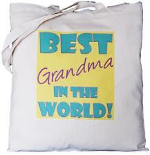 Best Grandma nel mondo-Cotone Naturale Borsa a tracolla-padre del padre's Giorno Regalo
