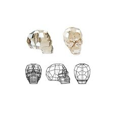 Swarovski Crystal Beads Faceted Skull 5750 Golden Shadow 14x13x10mm