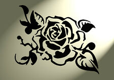 Shabby chic Stencil Rose flower Vintage style A4 297x210mm Mylar wall flourish