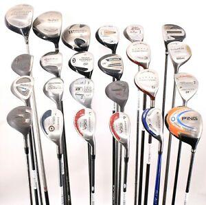Lot of 24 Golf Drivers Fairways Hybrids Adams TaylorMade Ping Orlimar Cobra RHLH