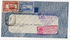1937 PERU' 2 VALORI SU LETTERA DA LIMA MARZO 1937 V/929
