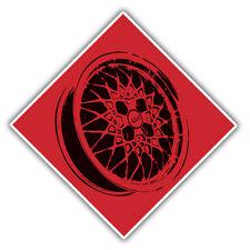 Bbs Rueda de la aleación advertencia calcomanía / etiqueta 100x100mm
