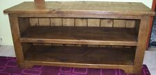 """SOLID WOOD 48"""" TV STAND CABINET ENTERTAINMENT UNIT RUSTIC PLANK PINE FURNITURE"""