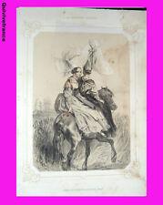 """Litho """"La Normandie illustrée"""" Femmes de Coutances & Avranches - Signé Lalaisse"""
