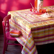 Garnier Thiebaut Damask Cotton French TABLECLOTH Gift New Multicolor Rose d'Inde