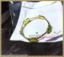 Kate Spade Desert Stone Bangle Bracelet Gold Plated w/Stones TagNew WBRU480 SALE