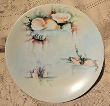 ANTIQUE FAVORITE BAVARIA HAND PAINTED CERAMIC PLATE W/ LOVELY SEA SHELL PATTERN