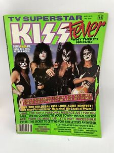 TV~SUPERSTAR KISS FEVER 1980 MAGAZINE 1st TIME MEMBERS W/O MAKEUP Incomplete