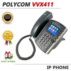 Polycom VVX 411 IP Gigabit Business Media Phone PoE