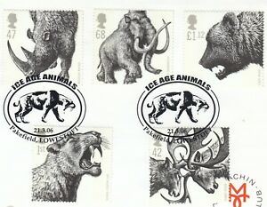 (90542) GB Used Ice Age Animals Pakefield Lowestoft 2006 ON PIECE