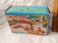 1960S BLUE-BOX PLASTIC SERVICE STATION GARAGE HONG KONG LESNEY KNOCK-OFF 7417 NM