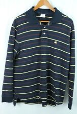 Brooks Brothers men's L Performance Polo striped pullover Sweater Shirt LOGO