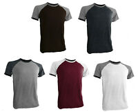 Styllion Big and Tall  - Men's Raglan Crew Baseball Shirts - Short Sleeve
