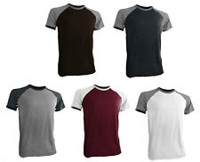 Styllion Big and Tall  - Men's Raglan Crew Baseball Shirts - Short Sleeve - RCSS