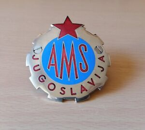 Automobile Club Car Badge YUGOSLAVIA 1960s JUGOSLAVIJA AMSJ