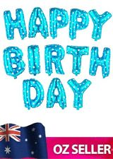 """HAPPY BIRTHDAY Foil Letters Balloons set For Party Decoration 16"""" BLUE NEW"""