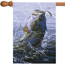 NEW Toland - On the Hook - Jumping Fish Lake Pond Fishing House Flag