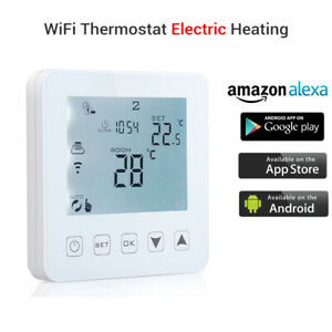 WiFi Programmable Thermostat,Electric Touch Screen Wireless Alexa Room New KIT