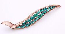 Emerald Gemstone Brooch For Embellishment(Zx28) Stunning Twist Bronze Metal And