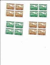 1958  UNESKO-Paris postfrische Viererblocksätze Mi. Nr. 475-76 A-B