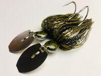 2 Custom Made Bass Bladed-Vibrating-Bait-Swim Jigs Color-(Gizzard Shad) 1/2 oz