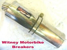 EXHAUST SILENCER MUFFLER CAN QUILL EVO 2 STAINLESS STEEL STRAIGHT THROUGH