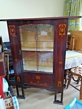 More details for arts and crafts movement mahogany display cabinet in the manner of george logan
