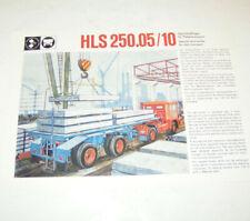 Prospekt  DDR Anhänger - Plattentransport Auflieger HLS 250.05/10 - Stand 1978