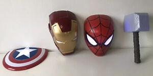 Superhero Wall Lights Iron Man, Spider Man, Thor Hammer, Captain America Shield