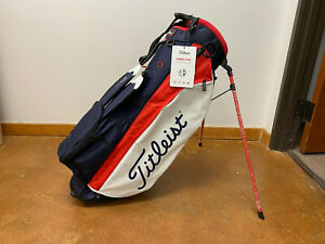 Titleist Players 4 Plus Stand Bag 4-Way Top (Navy/White/Red) **MINT**