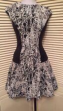 Ted Baker London Black Snake Print Cap Sleeve Knit Mini Liri Dress 12 NWT $279