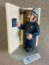 "Vintage Pinkerton Security Services Figurine Statue Bust 1995 11"" Detective"