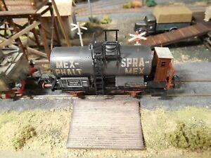 HO Roco Minitanks Freight Railway Car Custom Detailed Weathered #2844