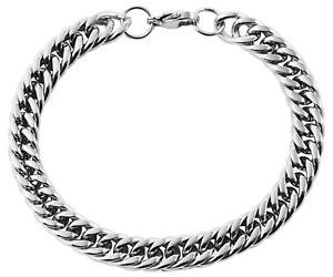Armband aus Edelstahl, Damen Herren Silber Armkette geflochten, Panzerkette 20cm