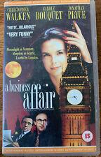 A Business Affair VHS 1993 British London-Based Romcom with Jonathan Pryce