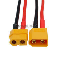 New XT60 Connector Female W/ Housing 10CM / 100mm Silicon Wire 14AWG Cable