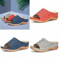 Shoes Women's Roman Slip On Sandals Open Toe Casual Wedge Wedge Slipper  Size