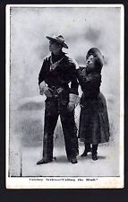 """Cowboy Series """"Calling the Bluff"""" RPPC Real Picture Postcard Cover"""