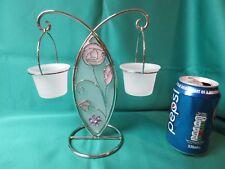Rennie MacIntosh art nouveau style twin tealight holder - chromium finish