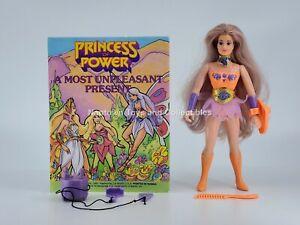 She-Ra Vintage FLUTTERINA NEAR COMPLETE w/ACCESSORIES & COMIC Mattel POP 1984